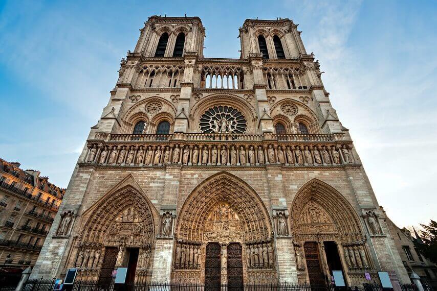 The architecture of Notre-Dame de Paris