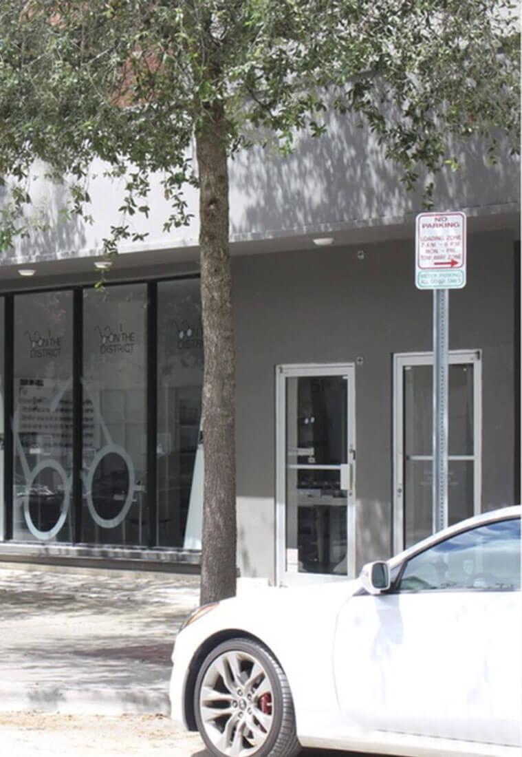 Vacant Design District Retail Building